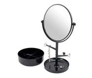 Espelho de Mesa com Suporte Elena Preto - 34,5X17cm | WestwingNow