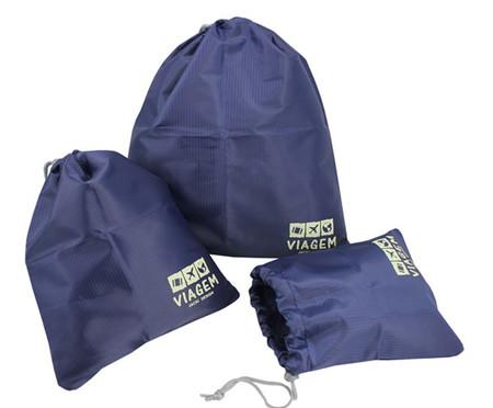 Jogo de Sacos Organizadores para Mala Meli Hay - Azul Escuro | WestwingNow