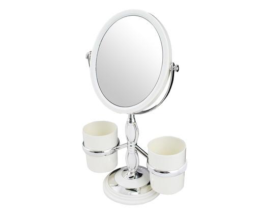 Espelho de Mesa com Suporte Jordda Branco - 20,5X32cm, Branco | WestwingNow