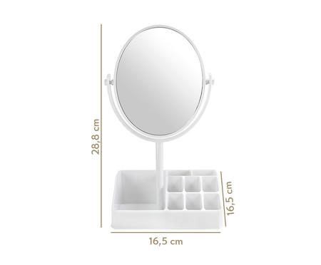 Espelho de Mesa com Divisórias Stella - Branco | WestwingNow