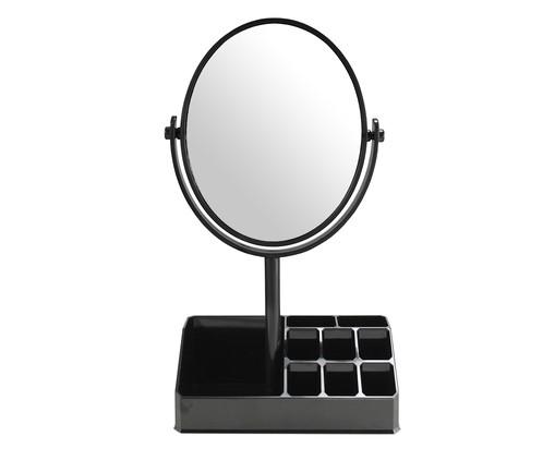 Espelho de Mesa com Divisórias Stella Preto - 16,5X28,8X16,5cm, Preto | WestwingNow