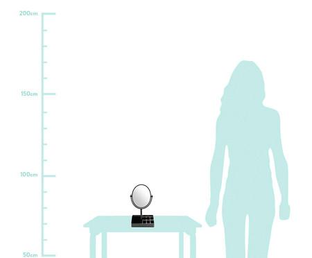 Espelho de Mesa com Divisórias Stella Preto - 16,5X28,8X16,5cm | WestwingNow