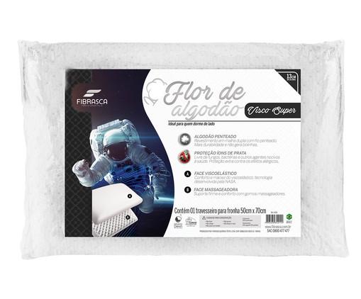 Travesseiro Viscoelástico Nasa Flor de Algodão - Branco, Branco | WestwingNow