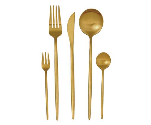 Jogo de Talheres em Inox Ice Dourado - 01 Pessoa, Dourado | WestwingNow