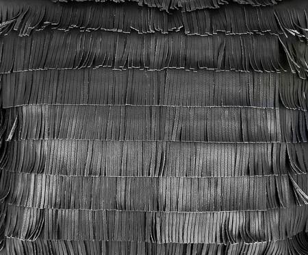 Almofada em Couro Franja Onyx - 52x52cm | WestwingNow