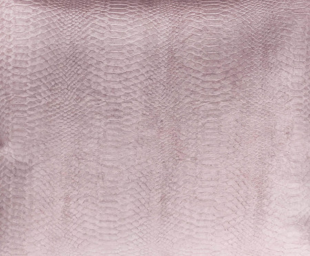 Almofada em Couro snake skin Rosa - 52x52cm | WestwingNow