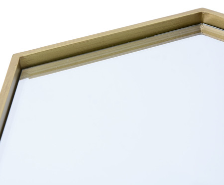 Espelho Sextavado Blair - Dourado | WestwingNow