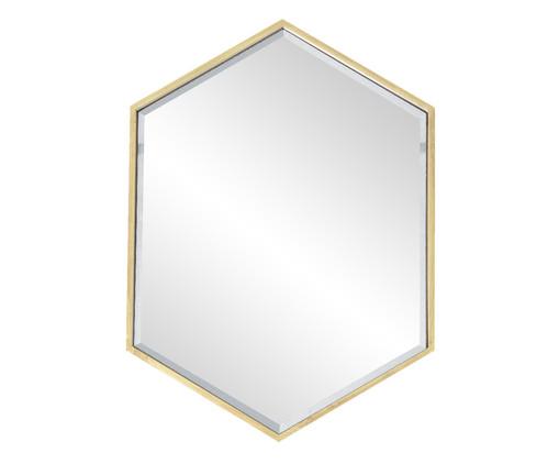 Espelho Sextavado Blair - Dourado, Dourado | WestwingNow
