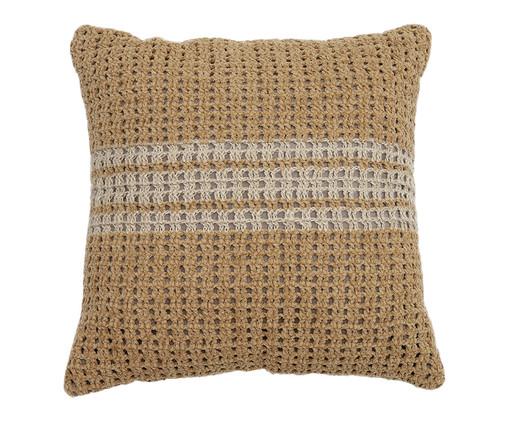 Almofada em Crochê Beatriz - 52x52cm, Castanho | WestwingNow