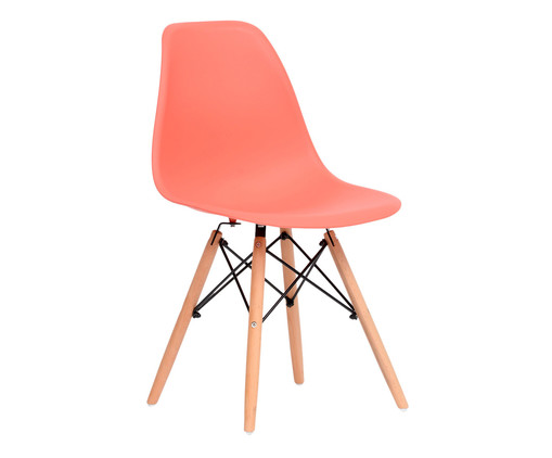 Cadeira Eames Wood - Coral, Coral | WestwingNow
