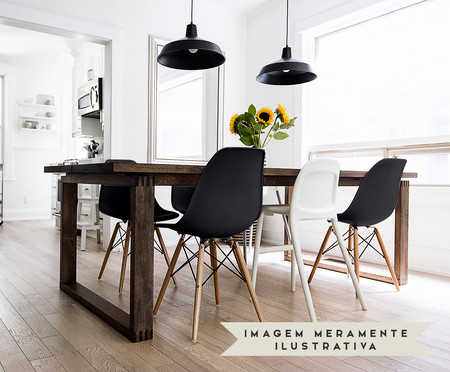 Cadeira Eames Wood - Preto | WestwingNow