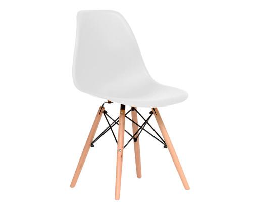 Cadeira Eames Wood - Branco, Branco | WestwingNow