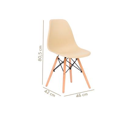Cadeira Eames Wood - Areia | WestwingNow