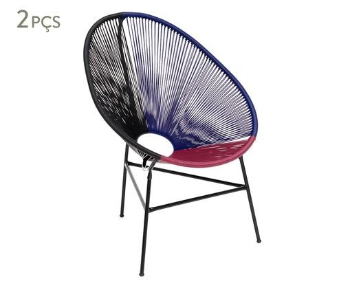 Jogo de Cadeiras Acapulco Santiago - 02 Peças, Multicolorido   WestwingNow
