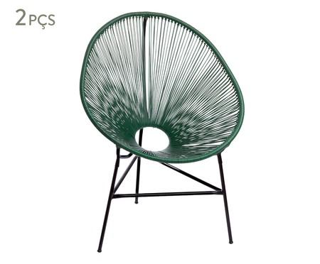 Jogo de Cadeiras Acapulco - Verde Musgo - 02 Peças | WestwingNow