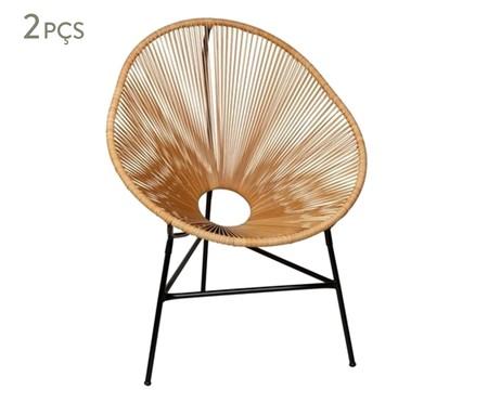 Jogo de Cadeiras Acapulco Baka Palha - 02 Peças | WestwingNow