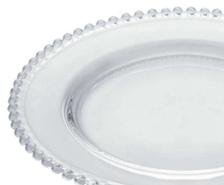 Prato Raso em Cristal Pearl - Transparente | WestwingNow