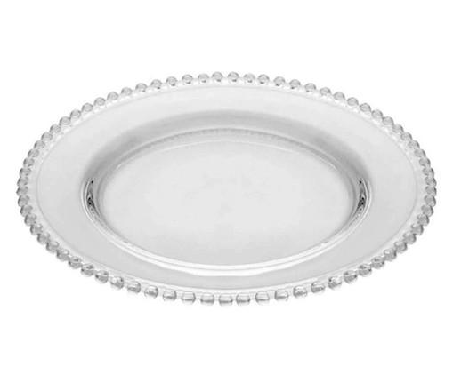 Prato Raso em Cristal Pearl - Transparente, Transparente | WestwingNow