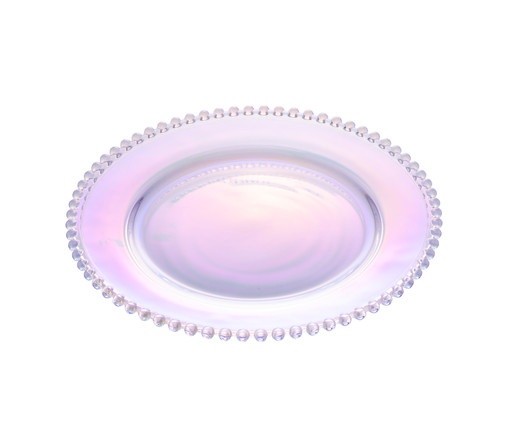 Prato para Sobremesa em Cristal Pearl - Colorido, Furta-cor   WestwingNow