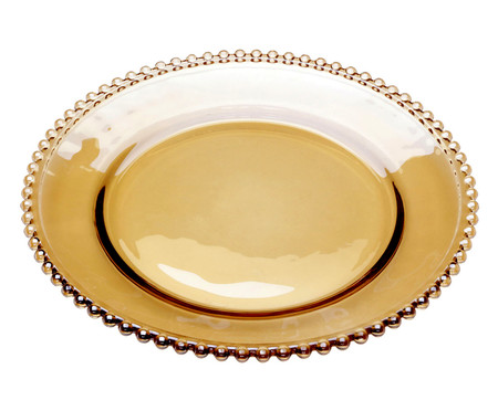 Prato para Sobremesa em Cristal Pearl - Âmbar | WestwingNow