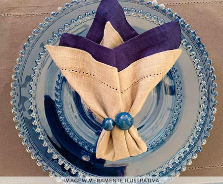 Prato para Sobremesa em Cristal Pearl - Azul | WestwingNow