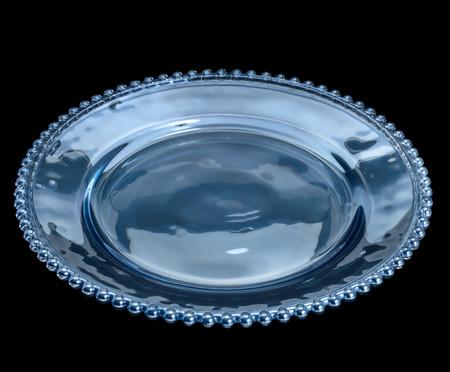 Sousplat em Cristal Pearl - Azul | WestwingNow