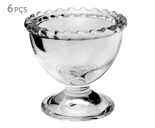 Jogo de Suporte para Ovo em Cristal Pearl - Transparente, Transparente   WestwingNow
