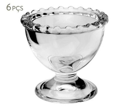 Jogo de Suporte para Ovos em Cristal Pearl - Transparente | WestwingNow