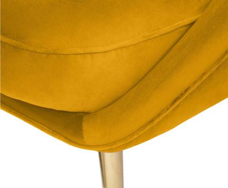 Jogo Belle em Veludo - Açafrão e Dourado | WestwingNow