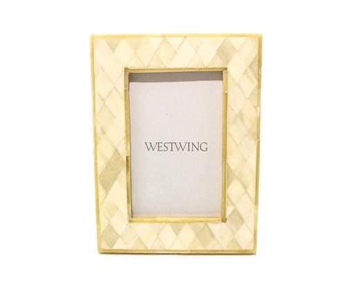 Porta-Retrato de Osso Guy, Off White | WestwingNow