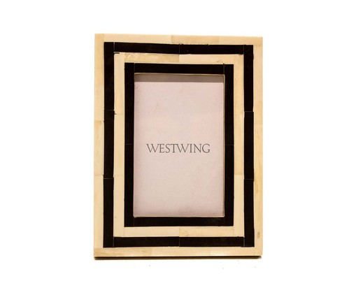 Porta-Retrato de Osso Emma, Preto   WestwingNow