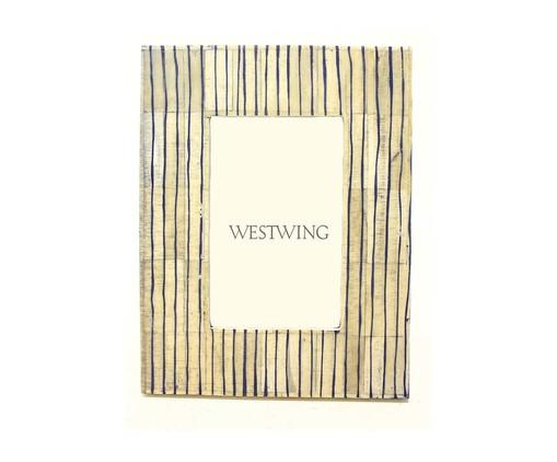 Porta-Retrato de Osso Sara, Azul | WestwingNow