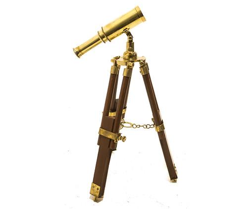 Telescopio em Madeira Doris - Dourado, Dourado,Marrom | WestwingNow