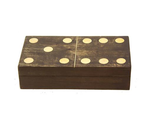 Caixa para Domino de Madeira Lena, Marrom | WestwingNow