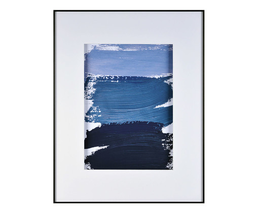Quadro Navy Blue Watercolor Conscientious - 58X74cm, Azul | WestwingNow