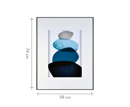 Quadro Navy Blue Watercolor Trustworthy - 58X74cm | WestwingNow