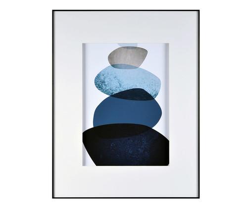 Quadro Navy Blue Watercolor Trustworthy - 58X74cm, Azul | WestwingNow