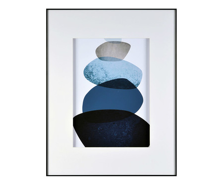 Quadro Navy Blue Watercolor Trustworthy - 58X74cm | WestwingNow