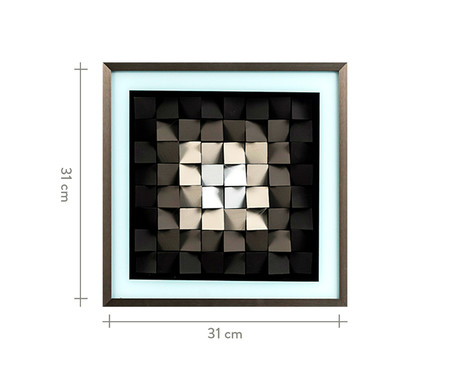 Quadro Colors Nara Cinza - 31X31X6,3cm | WestwingNow