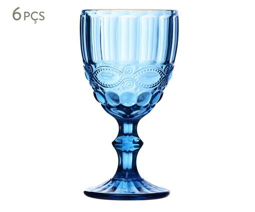 Jogo de Taças Hobnail - Azul, Azul | WestwingNow