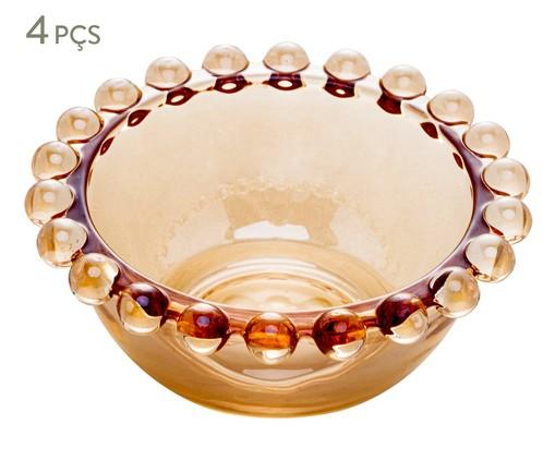 Jogo de Bowls em Cristal Pearl - Âmbar, Âmbar | WestwingNow