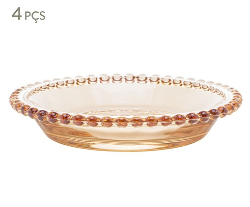 Jogo de Pratos para Sobremesa em Cristal Pearl - Âmbar, Âmbar   WestwingNow