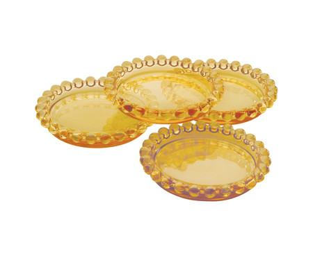 Jogo de Pratos para Sobremesa em Cristal Pearl - Âmbar | WestwingNow