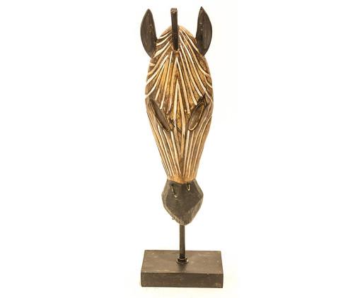 Escultura em Resina Zebra - Marrom, BEGE   WestwingNow