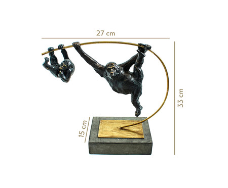 Escultura em Resina Monkey | WestwingNow