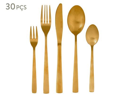Faqueiro em Inox Basic Dourado - 04 Pessoas, Dourado   WestwingNow