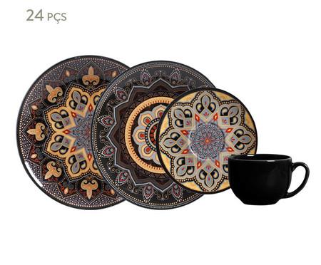 Jogo de Jantar em Cerâmica Coup Eufrates 06 Pessoas - Marrom | WestwingNow