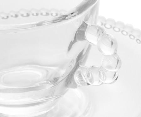 Jogo de Xícaras de Café e Pires em Cristal Pearl - Transparente | WestwingNow
