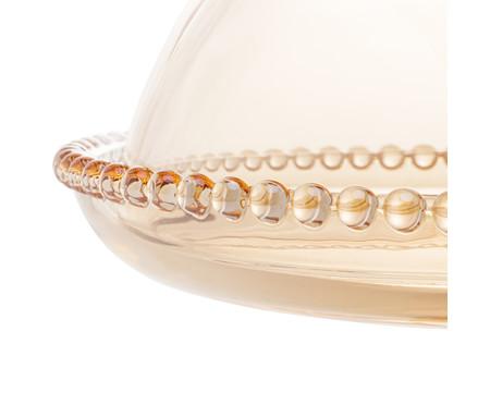 Prato em Cristal para Bolo em Cristal Pearl com Pé e Tampa - Âmbar | WestwingNow
