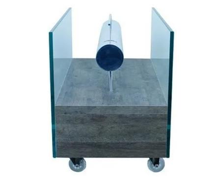 Lareira Ecológica com Rodízios Coll - Concreto | WestwingNow
